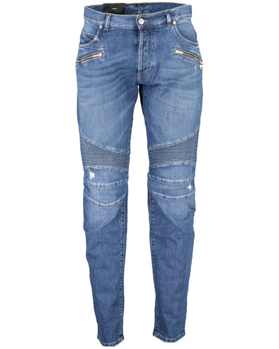 Balmain  Ribbed Tapered Jeans Blue