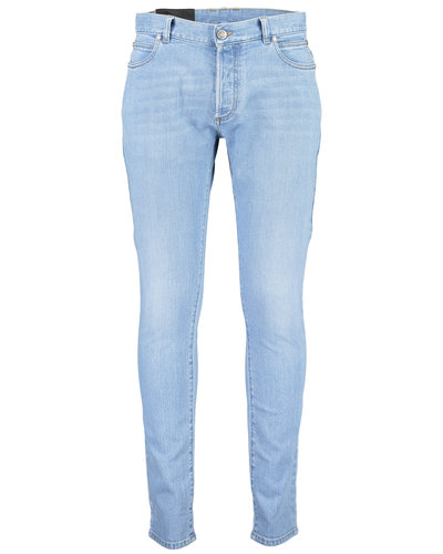 Balmain  Embroidered Slim Jeans Blauw