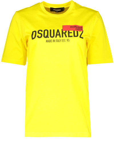 Dsquared2 Red Tag Renny T-shirt Geel