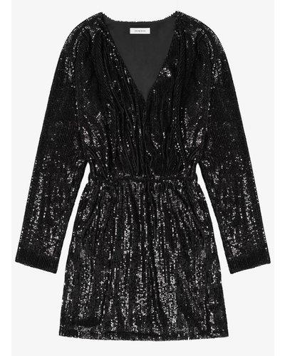 Anine Bing Elena Dress Black