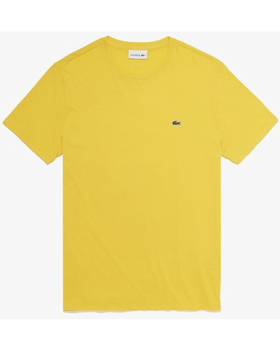 Lacoste Round Neck T-shirt Yellow