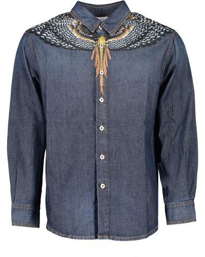 Marcelo Burlon Grizzly Wings Denim Shirt