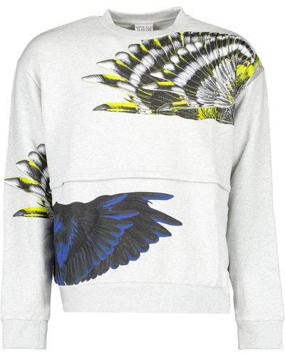Marcelo Burlon Wings Patchwork Sweater Grijs