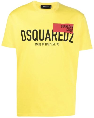 Dsquared2 Red Tag Cool T-shirt Geel