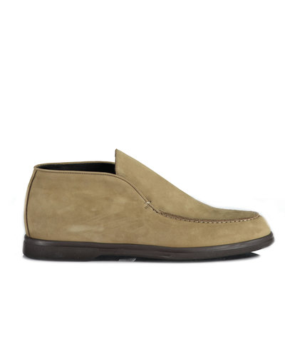Corneliani Suede Slip On Beige