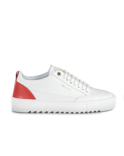 Mason Garments Tia Leather Sneakers Wit/Rood