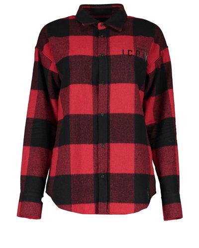 Dsquared2 Canada Icon Shirt Zwart/Rood