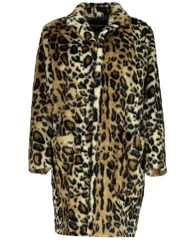 Dsquared2 Leopard Car Coat Print