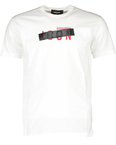 Dsquared2 Icon Patch T-Shirt Wit