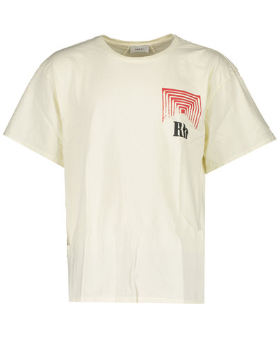 Rhude Graphic T-shirt Offwhite/Rood