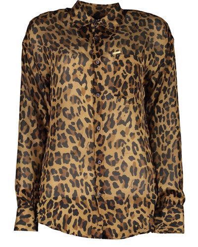 Dsquared2 1-Pkt Leopard Shirt Beige