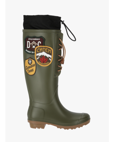 Dsquared2 Rubber Rain Boots Army Green
