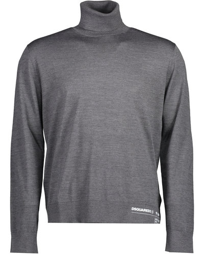 Dsquared2 Logo Turtleneck Sweater Grey