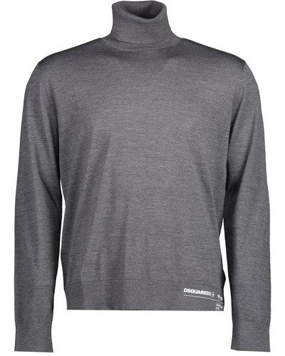 Dsquared2 Logo Turtleneck Sweater Grijs
