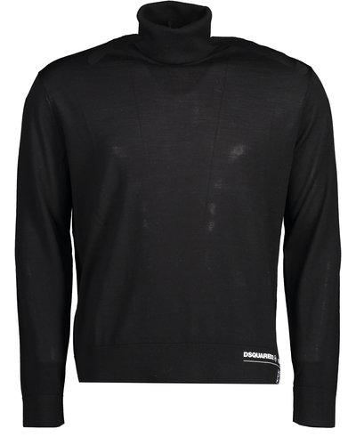 Dsquared2 Logo Turtleneck Sweater Black