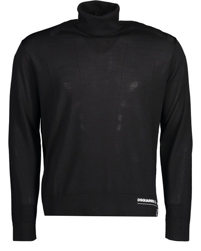 Dsquared2 Logo Turtleneck Sweater Zwart