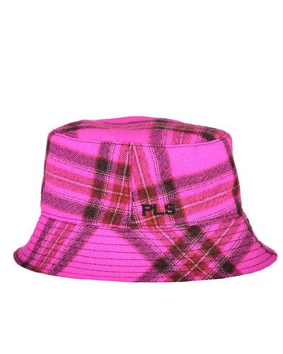 Philosophy di Lorenzo Serafini Checkered Bucket Hat Fuchsia