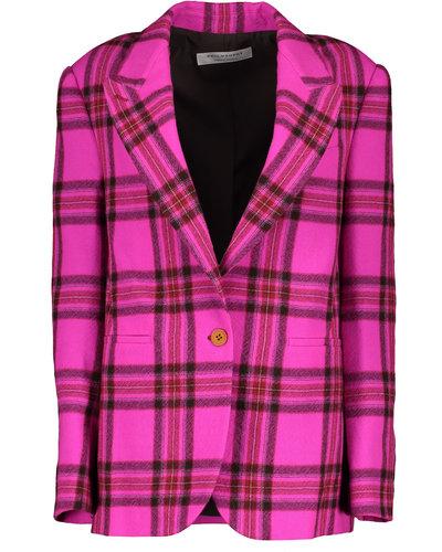 Philosophy di Lorenzo Serafini Checkered Jacket Fuchsia