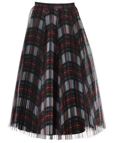 Philosophy di Lorenzo Serafini Checkered Tulle Skirt Rood