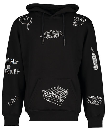 Champagne In The Morning Heavy Love Hoodie Black