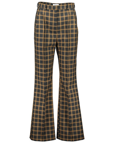Kenzo Flared Tailored Pants Black/Beige