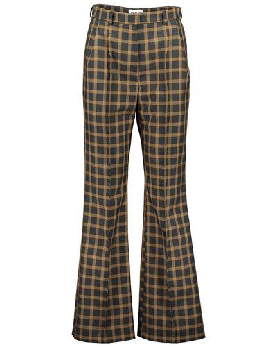 Kenzo Flared Tailored Pants Schwarz/Beige