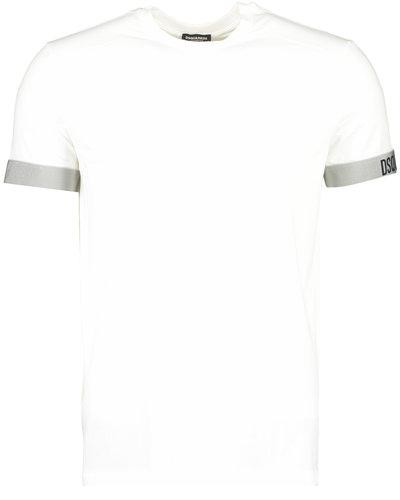 Dsquared2 Elastic Arm Band T-shirt White