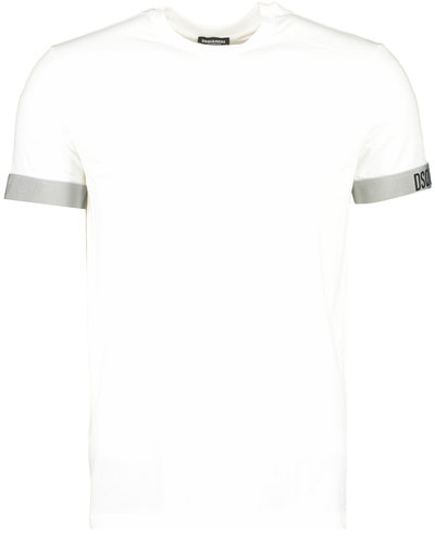 Dsquared2 Elastic Arm Band T-shirt Wit