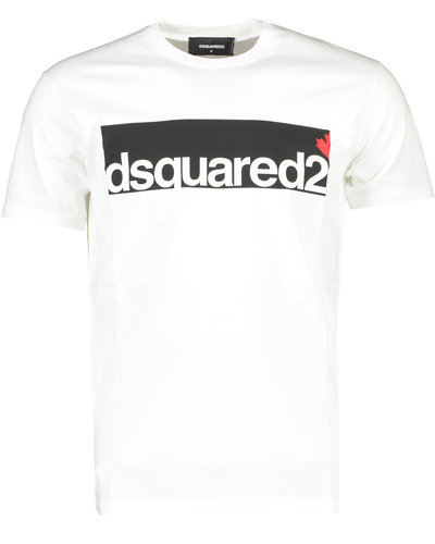 Dsquared2 Chest Logo T-Shirt Wit