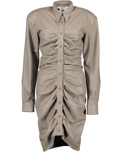 Philosophy di Lorenzo Serafini Leather Effect Dress Grijs