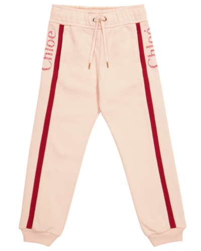 Chloé Kids Side Logo Pants Pink