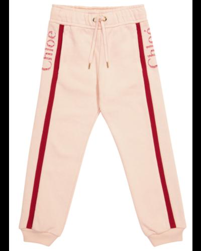 Chloé Kids Side Logo Pants Rosa
