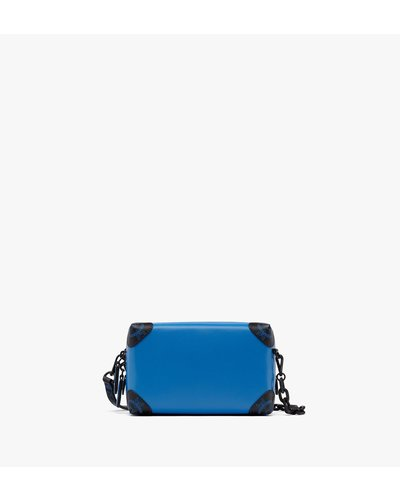 MCM Worldwide Soft Berlin Crossbody Bag Mini Blau