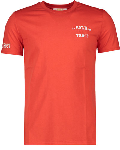 In Gold We Trust The Pusha T-shirt Rood