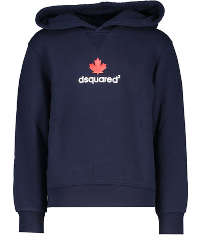 Dsquared2 Kids Relax Maple Leaf Hoodie Navy