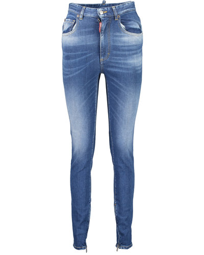 Dsquared2 Patch Bell Bottom Jeans Blauw