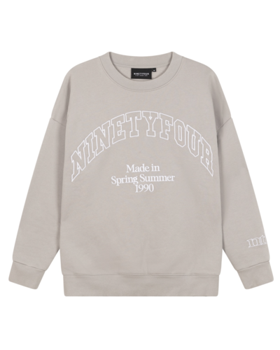 Ninety Four  College Sweater Grijs