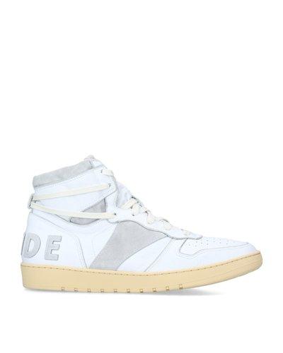 Rhude Rhecess Hi Sneakers Wit/Grijs