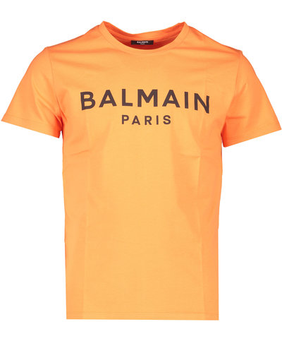Balmain  Logo T-Shirt Oranje