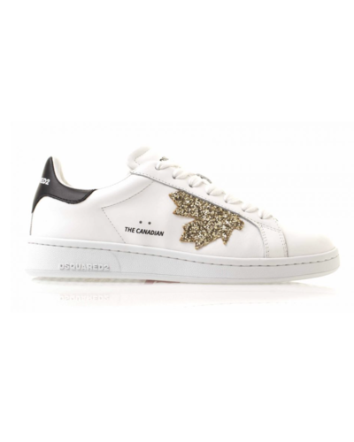 Dsquared2 The Canadian Glitter Sneaker Wit/Goud