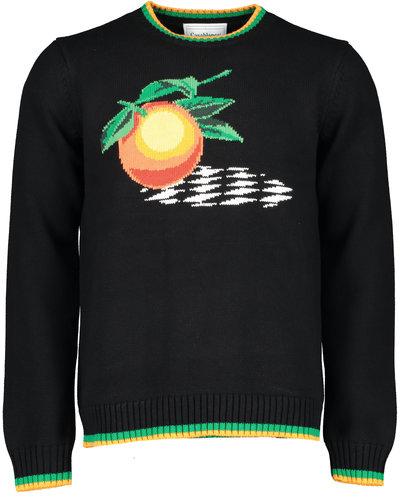 Casablanca Intarsia Sweater Zwart