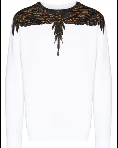 Marcelo Burlon Camou Wings Sweater Weiß