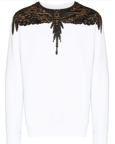 Marcelo Burlon Camou Wings Sweater White