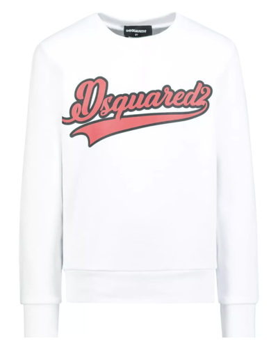 Dsquared2 Kids Red Logo Sweater White