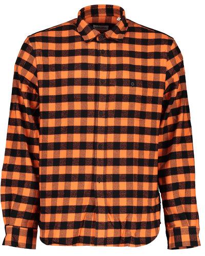 Kenzo Checked Overshirt Orange