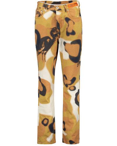 Heron Preston Camouflage Pants Orange