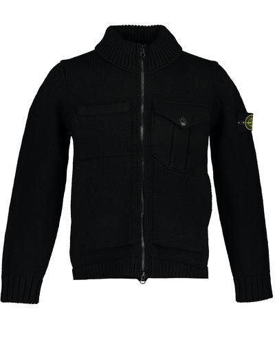 Stone Island 548A4 Knitwear Cardigan Zwart
