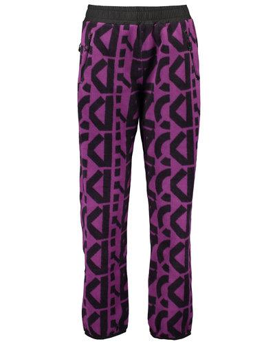 Kenzo Monogram Fleece Pants Paars