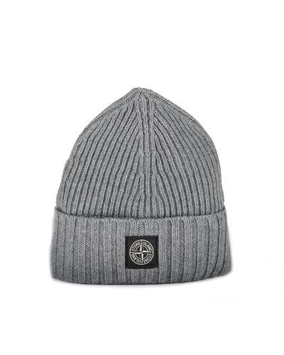 Stone Island Junior N03A8 Hat Grey