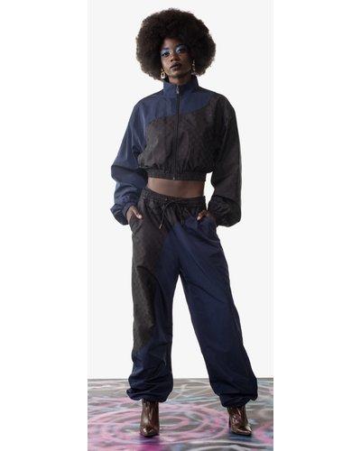 Daily Paper Lanelle Pants Blauw/Zwart